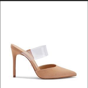 SCHUTZ 🔴 Sionne Clear strap pointy heel